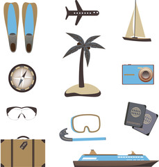 Travel icons. Vector