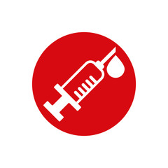 Syringe vector icon isolated.