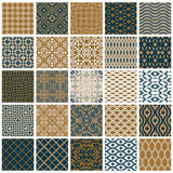 Vintage tiles seamless patterns.