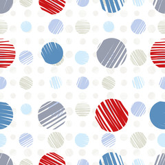 Sketch dots seamless pattern.