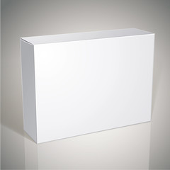 Package white box design, template for your package design, put
