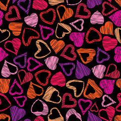 Hears seamless pattern, love valentine and wedding theme seamles