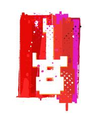 Grunge guitar symbol