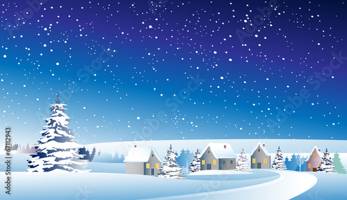 winter landscape - 67112943