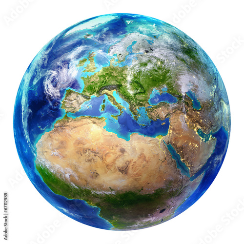 Fototapeta earth Europe - isolated
