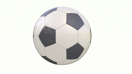 Classic soccer ball on white