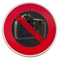 panneau interdiction de faire des photos