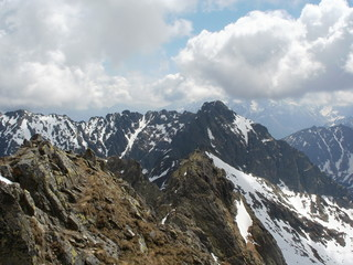 View to Orla Perc in High Tatras,Poland