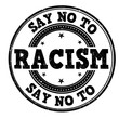 Say no to racism stamp