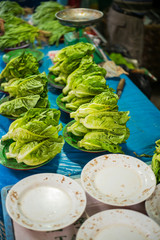 Fresh lettuce on a stall
