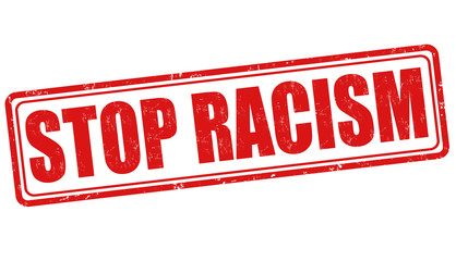 Stop racism stamp