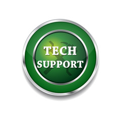 Tech Support Glossy Shiny Circular Vector Button