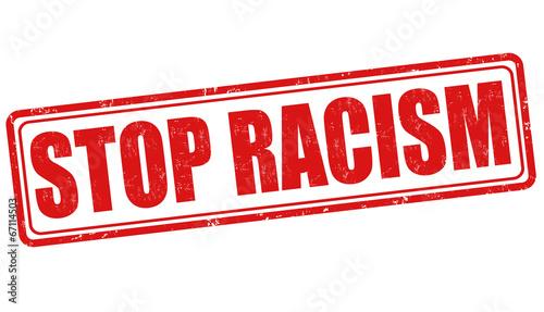 Stop racism stamp