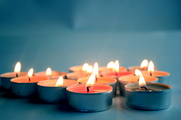 Candles in the Blue
