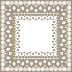 Tablecloth border pattern