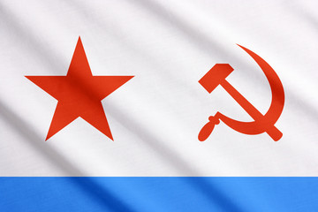 Soviet Union naval flag waving