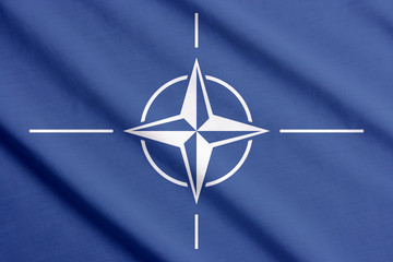 Flag of NATO waving