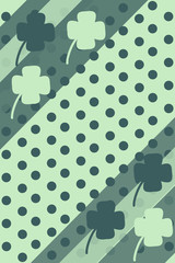 Clover polka background