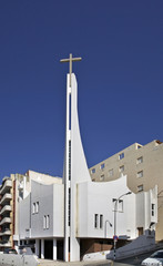 Evangelical Church in Calpe. Spain