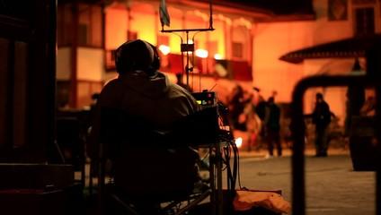 sound engineer on the film set