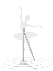 Compasses and ballerina