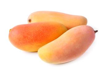 Mango fruit isolated on white background.