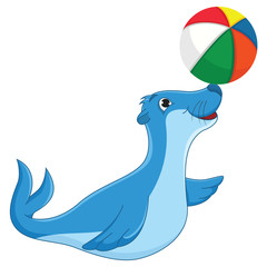 Sea calf Vector Illustration