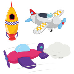 Planes Vector Illustrations