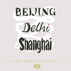 Asian Cities Set- Beijing, Delhi, Shanghai