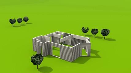 Haus Bauphase