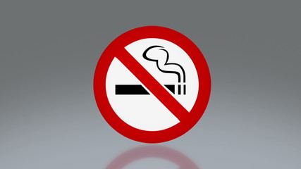 No smoking rectangle signag