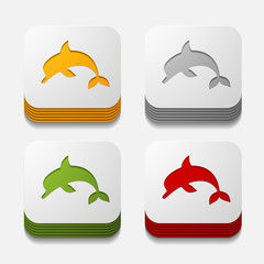 square button: dolphin