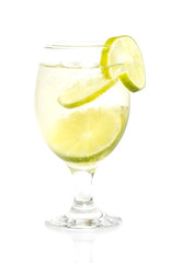 Water with lime isolated
