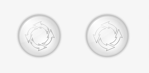circle arrows on buttons