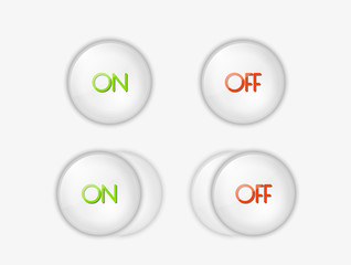 buttons with ON and OFF text