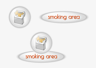 smoking area buttons