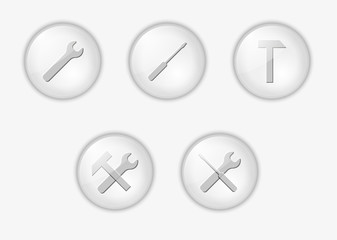 buttons with tools