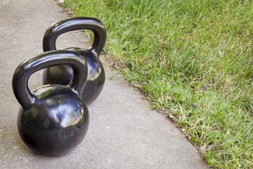 kettlebells - backyard fitness