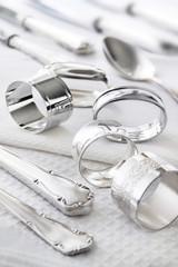 Silber - Tisch - Dekoration