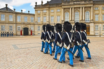 Royal Guard in Copenhagen in Denmark