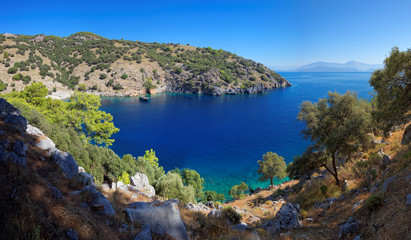 Secluded bay in the Turkish Mediterranean
