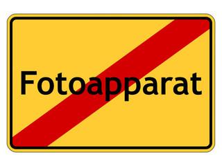 Fotoapparat verboten