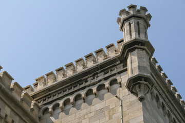 Detail of the castle of miramar