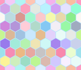 Hexahedron colorful seamless pattern.