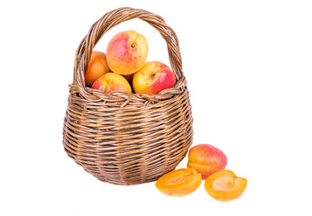 apricot in basket