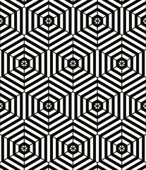 Vector black and white geometric background.