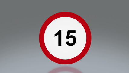 road sign Speed limit 5 to 130