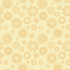 An abstract vintage pattern seamless background.