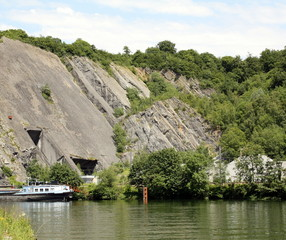 Quarry on the Meuse in the Belgian Ardennes