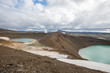canvas print picture - Viti crater at Krafla geothermal area, Iceland